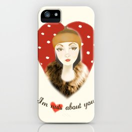 Camilla Willow: I'm Nuts About You iPhone Case