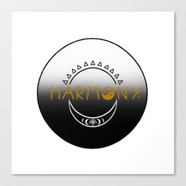Sun and Moon Harmony Emblem Canvas Print