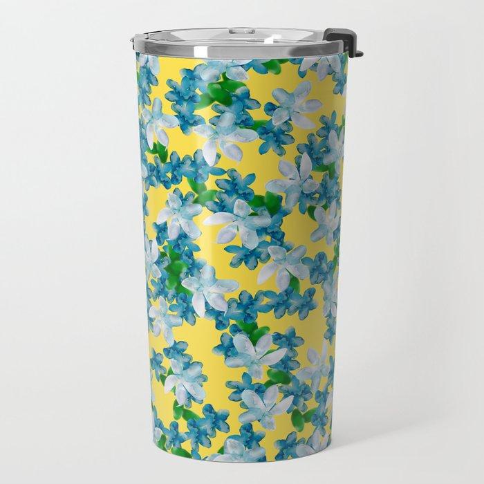 Summer Flowers Yellow Travel Mug