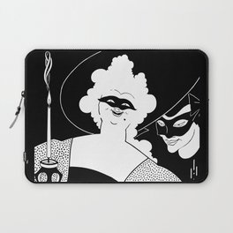 Carnival or Masquerade Ball black and white art Laptop Sleeve