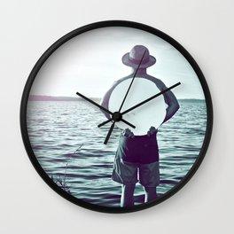 L'homme au miroir Wall Clock