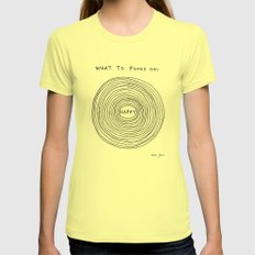 What to focus on Lemon MEDIUM Womens Fitted Tee