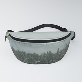 Mountains in winter Fanny Pack