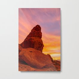 Balanced Rock Sunrise - Valley of Fire Metal Print