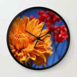 Bright, Vibrant, Happy Flowers Wall Clock