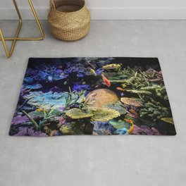 Brain Coral and Bright Colours Rug