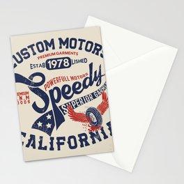 Custom motors california graphic Stationery Cards