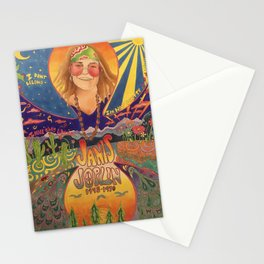 Janis 60s colorful psychedelic poster- prismacolor markers Stationery Cards
