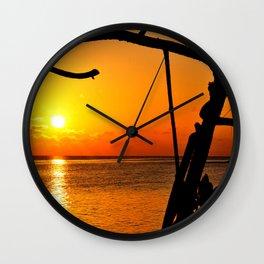 Sunrise The Maldives Wall Clock