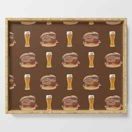Burgers and Beer Serving Tray