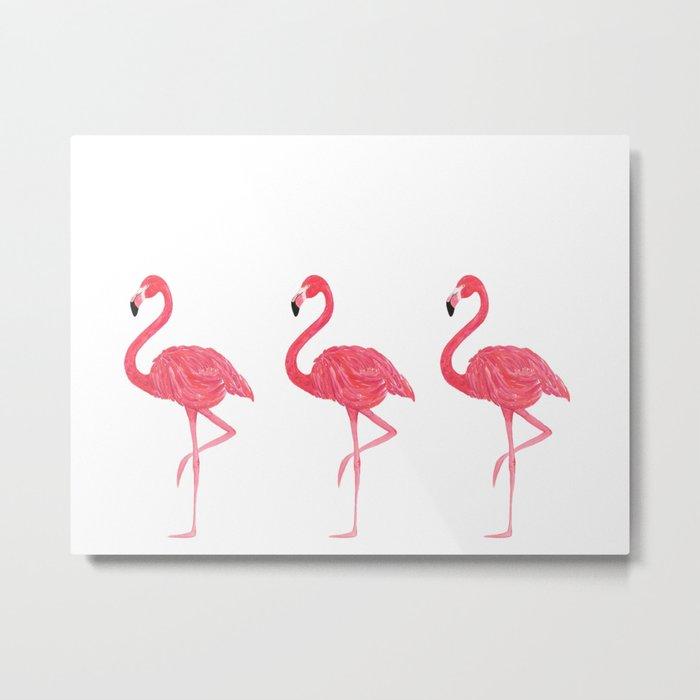 Flamingo tropical dance Metal Print