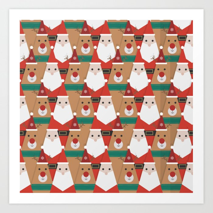 Christmas is Coming (Patterns Please) Art Print