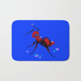 Red velvet ant Bath Mat