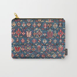 Cobalt Blue Khyrdagyd // 19th Century Authentic Colorful Yellow Red Aztec Butterfly Accent Pattern Carry-All Pouch