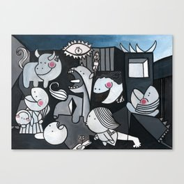 """The Little Guernica - Reinterpretation of """"The guernica"""" by Pablo Picasso, Wall art, prints for sale Canvas Print"""