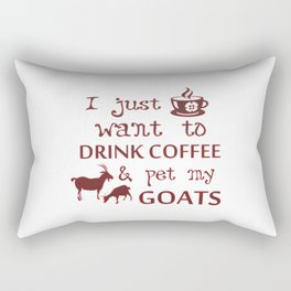Coffee & Goats Rectangular Pillow