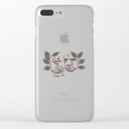 Roses and Honesty Clear iPhone Case