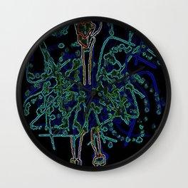 Neon Sally Rand Wall Clock