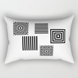 Minimal Black And White Rectangular Pillow