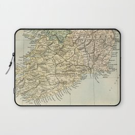Vintage and Retro Map of Southern Ireland Laptop Sleeve