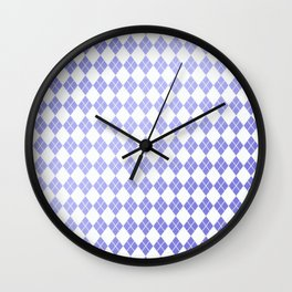 Modern geometric ultraviolet white diamonds patterns Wall Clock