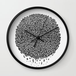 Black Sphere Wall Clock