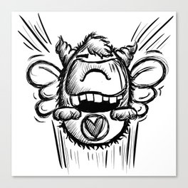 Buzzy Monster Canvas Print