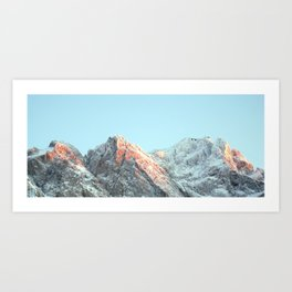 zugspitze mountain panorama, germany. Art Print