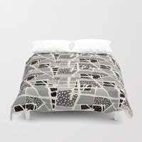 basquiat Duvet Covers featuring AE (Basquiat) by Elizabeth Hale Design Studio
