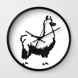 Letterpress Llama Wall Clock