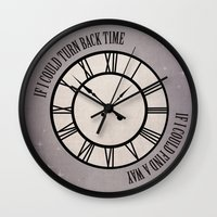 If I Could Turn Back Time... Wall Clock