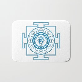 Sri Yantra Throat Chakra Bath Mat