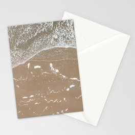 Waves on the beach   Aerial beach photography   Drone photography Stationery Cards