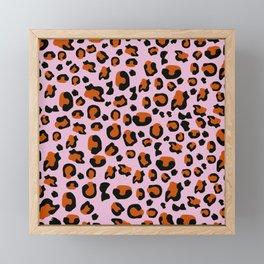 Jungle - Leopard Pattern Light Pink Framed Mini Art Print