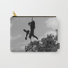 Girl on Swing B&W Carry-All Pouch