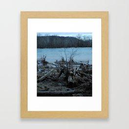 Violet's Lock Driftwood Framed Art Print