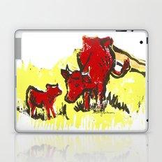 Big moo, wee moo (colored version) Laptop & iPad Skin