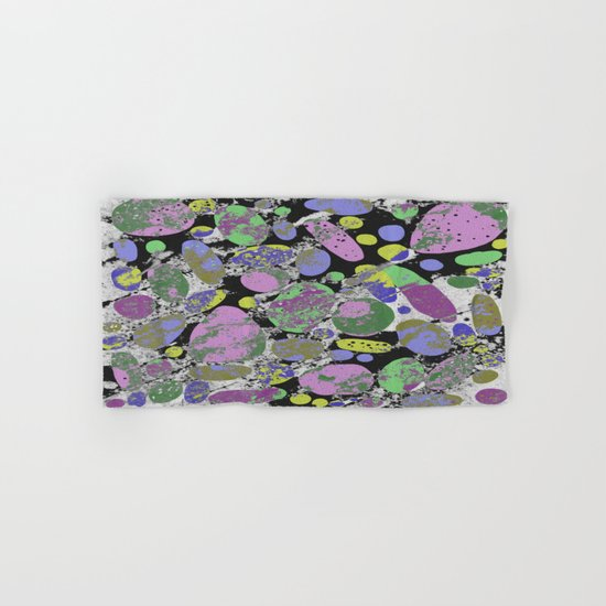Crazy Paving - Abstract, textured, pastel coloured artwork Hand & Bath Towel