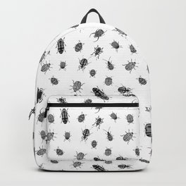 Beautiful Bugs White Backpack