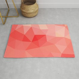 Shades of Coral Low Poly Design Rug