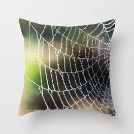Arachnid artistic blur bokeh Throw Pillow