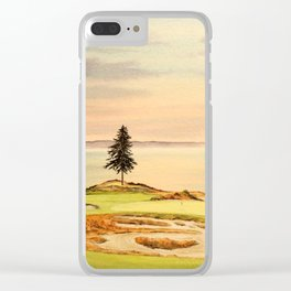 Chambers Bay Golf Course 15th Hole Clear iPhone Case