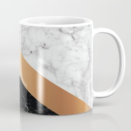 Arrows - White Marble, Rose Gold & Black Granite #799 Coffee Mug