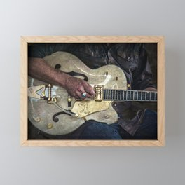 Guitar Man Framed Mini Art Print