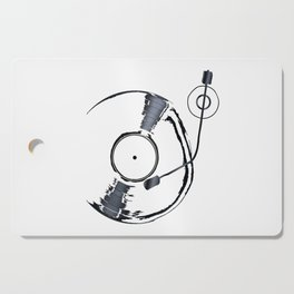 Record Deck Background Cutting Board