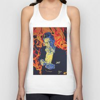 johnny cash Tank Tops featuring Johnny Cash by Rich Anderson