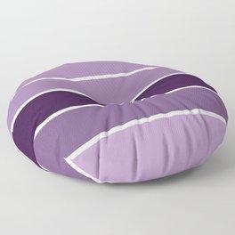 Lavender Purple Stripes Floor Pillow