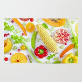 Fruits and vegetables pattern (12) Rug