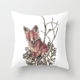 little kit Throw Pillow