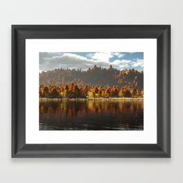 Reflections of Autumn Framed Art Print